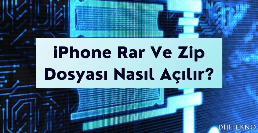 iphone rar dosya acma