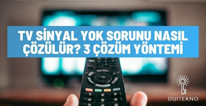 tv sinyal yok sorunu
